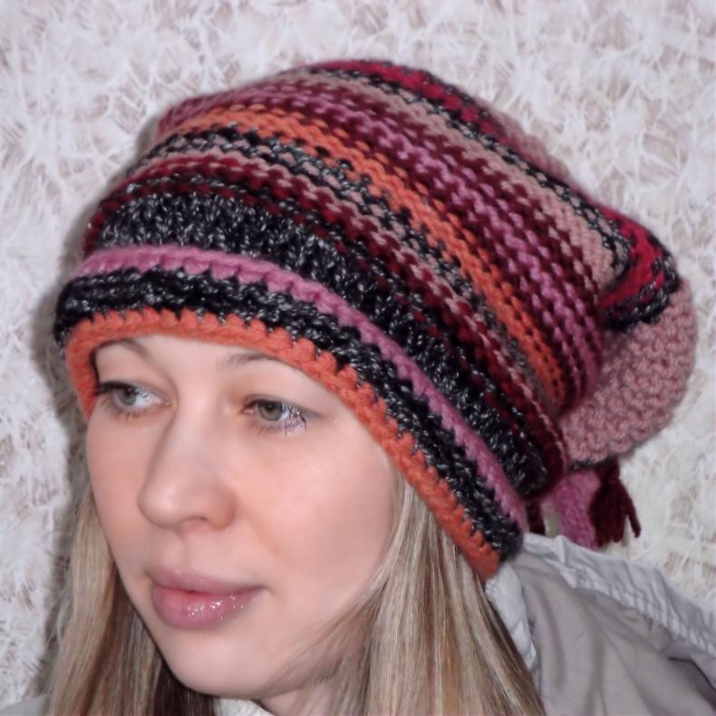 Вязаные шапки, береты спицами | Записи в рубрике