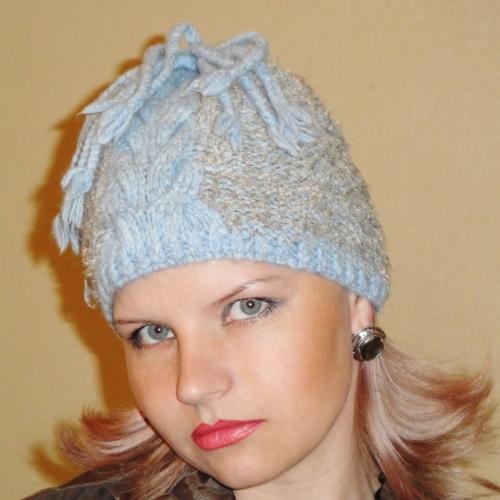 Вязаные шапки с описанием. + схема вязания шапки. Авторская модель Ольги Щепетильниковой. . Описание и. альбомы