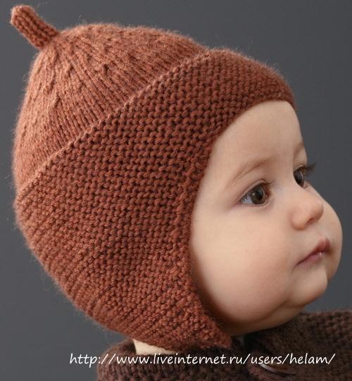 Детская шапочка с ушками (буденовка) из Phildar!