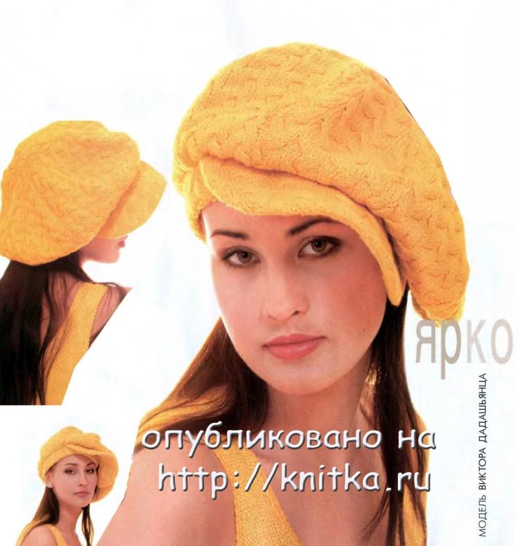 Вязаные шапки с козырьком с выкройкой