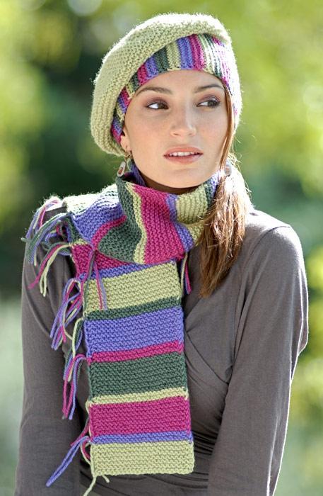 Берет и шарф. написала. шарфика спицами. Схема вязания берета и. берет
