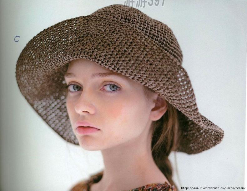 Большая шляпа крючком из LKS