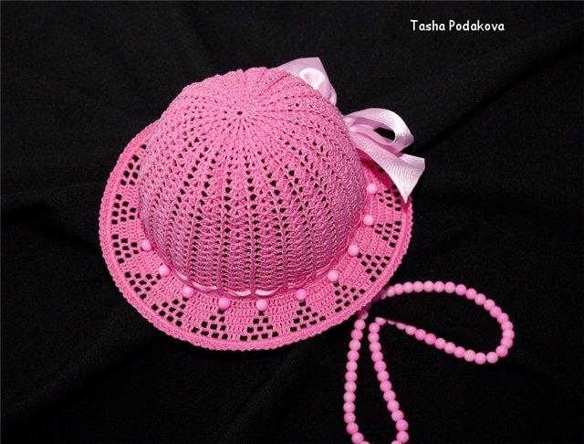 Вязание детской шляпки видео для начинающих