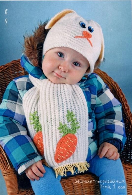 Описание: Вязаные шапочки Newsboy голубая