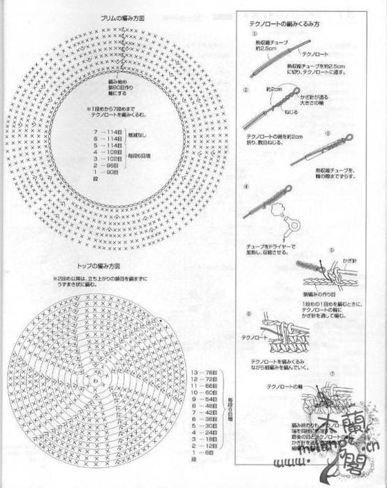 Схема вязание крючком шляпы схемы 637