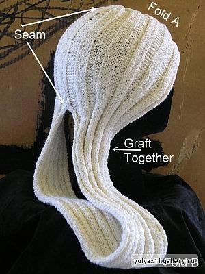 Оригинальная шапка- тюрбан.