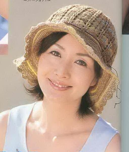 японские вязаные шляпы