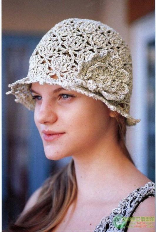 Вязание женских летних шляпок 887