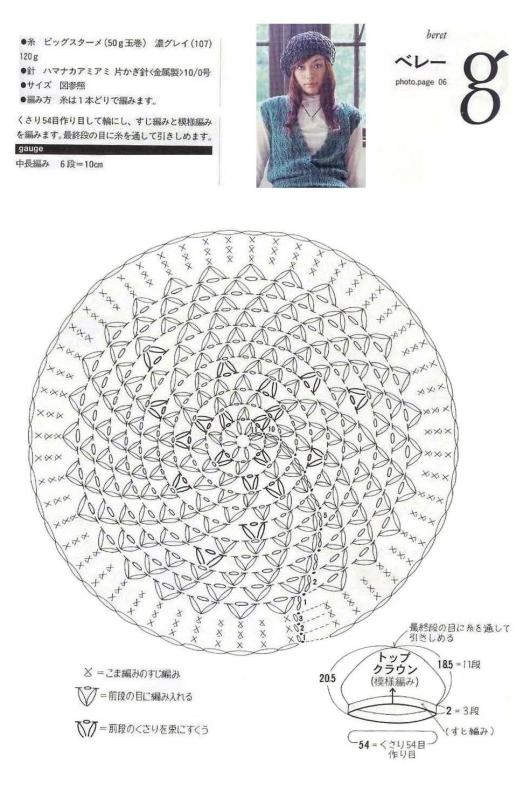 Шапка берет журнал вязание схемы
