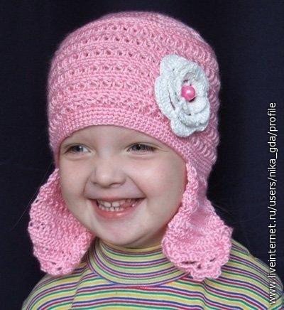 детская шапочка и шарфик вязаные крючком - Вязание детские чепчики и пинетки вязаные крючком детские шапочки и