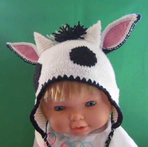 Детская шапочка с ушками вязание 8