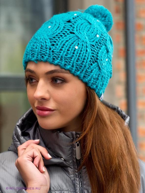 Вязаные зимние шапки ушанки береты