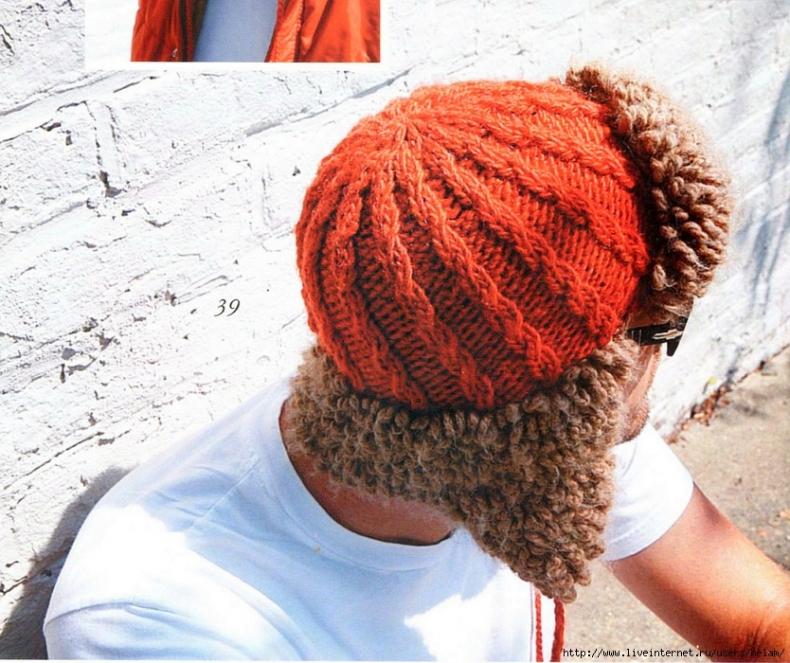 Вязаная шапка спицами схема - Фасон