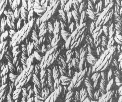 Вязаный шарф спицами. Узор со снятыми петлями.