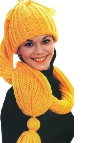 Вязаные шапки, шляпки, перчатки и шарфы