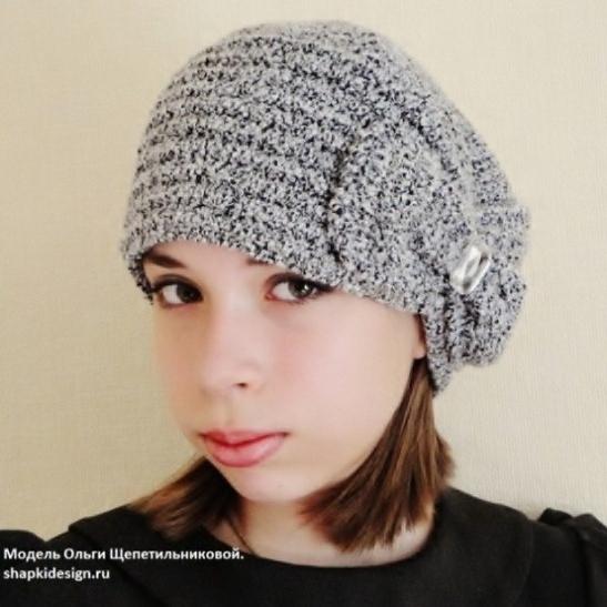 """Вязаная шляпа """"Маркиза"""""""