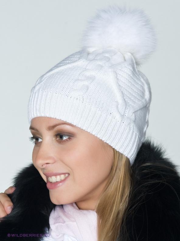 вязаная шапка с помпоном схема