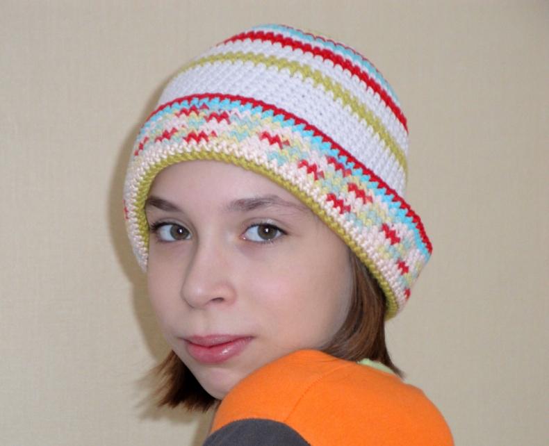 Шляпа вязаная Колокольчик Шляпа
