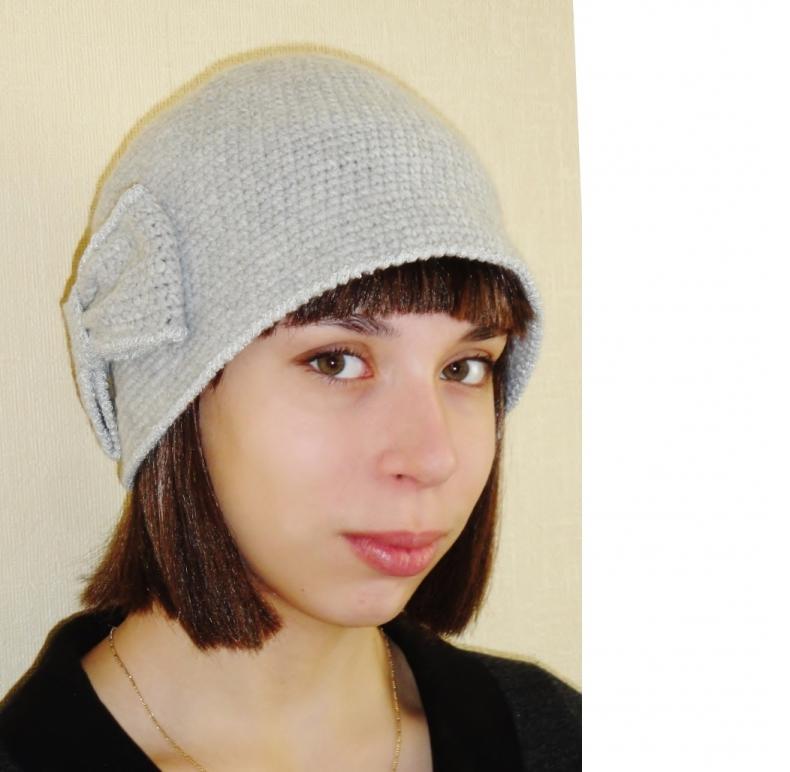 Вязаная шляпа Одри